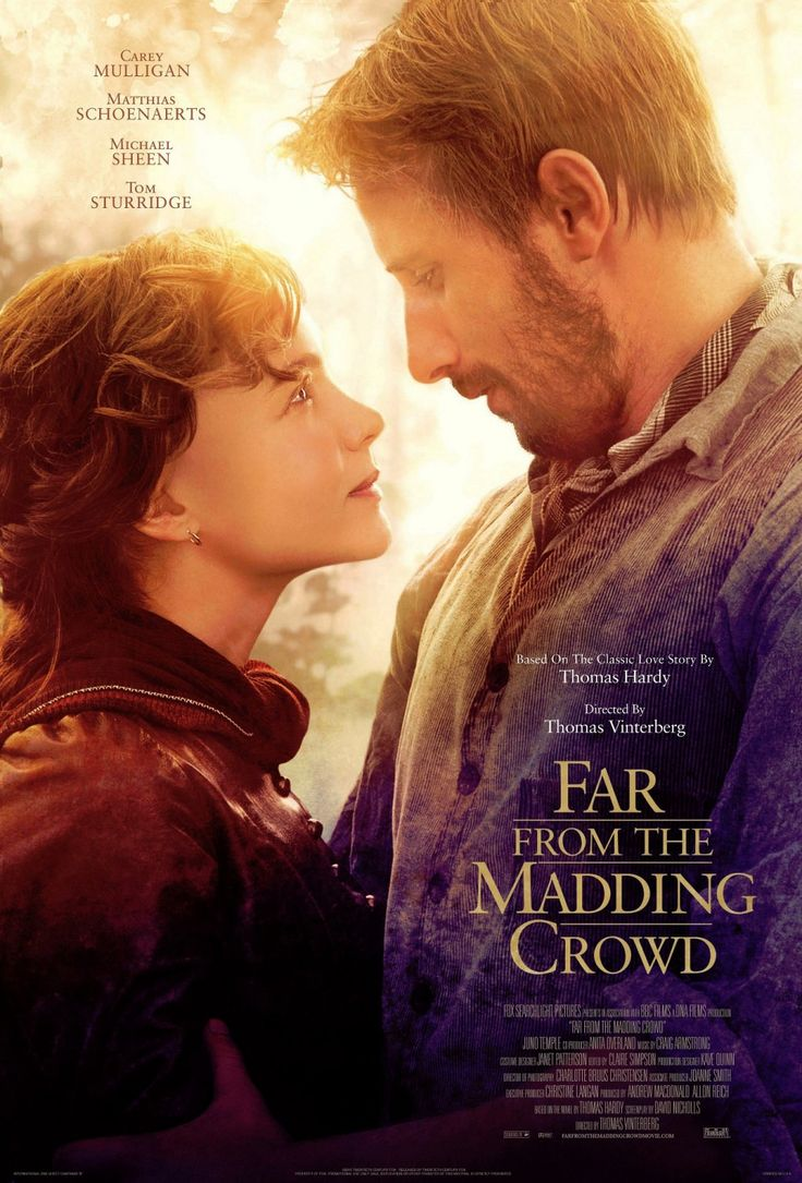 Far from the Madding Crowd (2015) ... In Victorian England, the independent and headstrong Bathsheba Everdene attracts three very different suitors: Gabriel Oak, a sheep farmer; Frank Troy, a reckless Sergeant; and William Boldwood, a prosperous and mature bachelor. (05-Dec-2015)