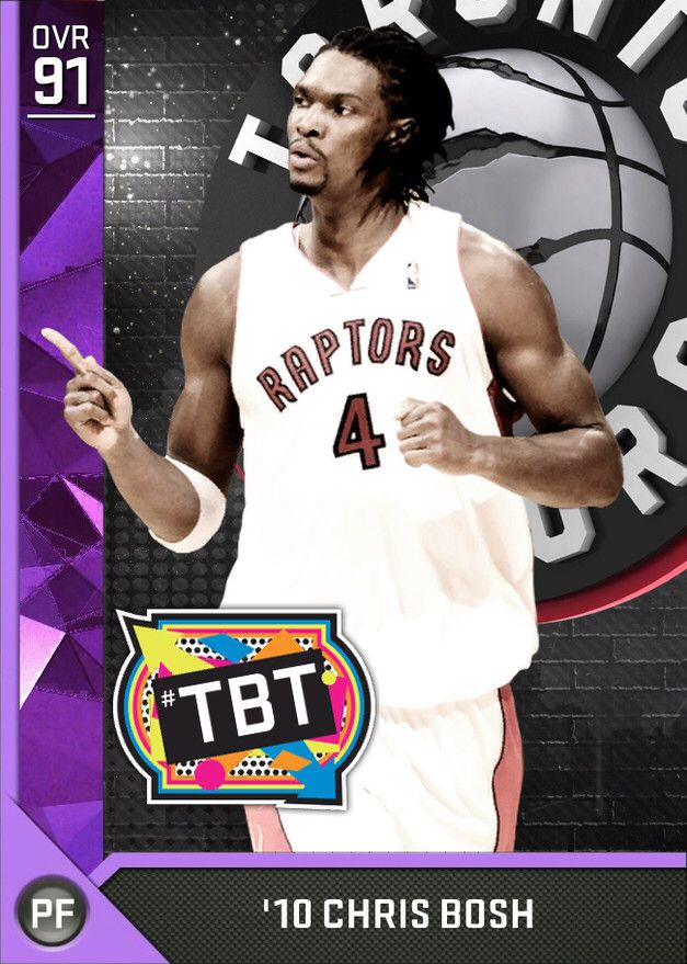 '10 Chris Bosh (91) MyTEAM Amethyst Card