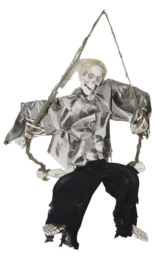 halloween decor n more kicking reaper on swing halloweendecornmorecom