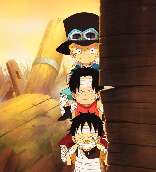Sabo, Ace and Luffy as Kids   Animes '   Pinterest