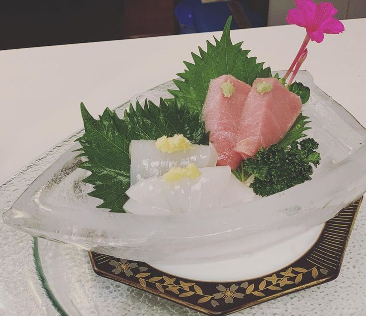 #breakfast Sashimi on ice for breakfast !#breakfas…