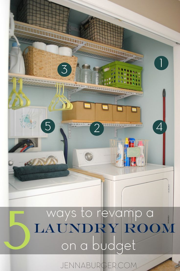 5 Ways Tips For Revamping A Laundry Room On A Budget See How I Transformed My Laundry Space In Laundry Room Remodel Laundry Room Makeover Laundry Room Decor