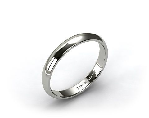 James Allen Platinum 4mm Slightly Domed Comfort Fit Wedding Ring