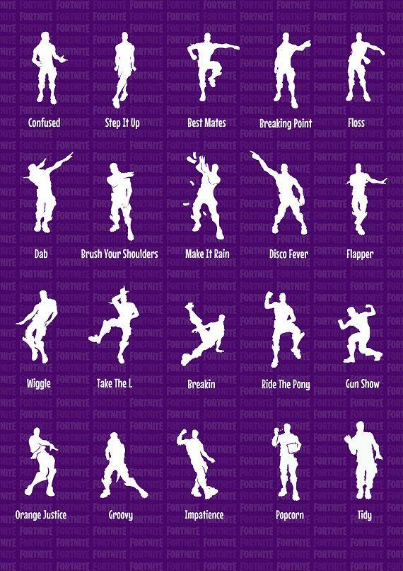 fortnite battle royale funny emotes dances dancing characters - emotes fortnite