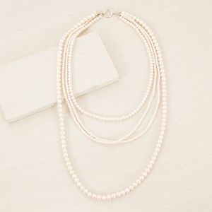 Four Strand Faux Pearl 80cm Layer Necklace