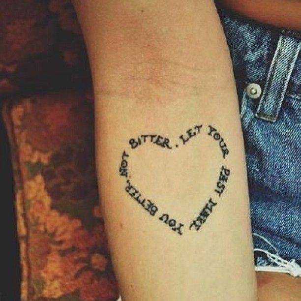 Leaves Heart Tattoo On Arm: Real Photo Pictures Images and Sketches ...