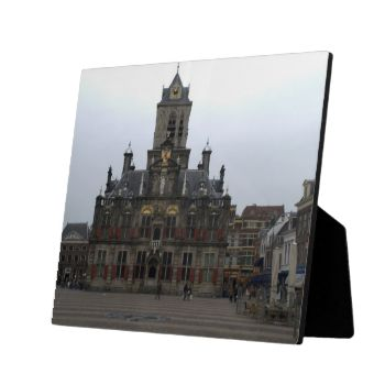 The town hall of Delft, Holland, on the Markt square.