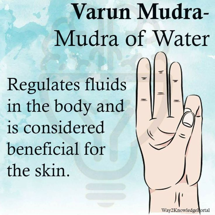 Varun Mudra Mudra of Water Regulates fluids in the body, beneficial for the skin