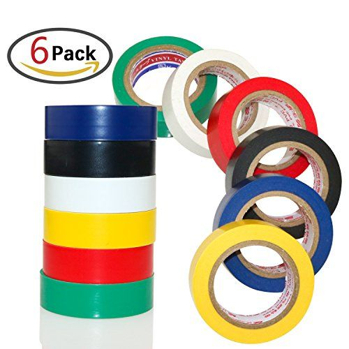 From 8.99:Zesgood 6 Pack Waterproof Electrical Adhesive Tape Insulating Electrical Tape Gaffer Tape