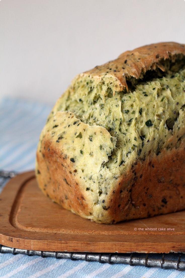 Dinkel-Spinat-Brot.