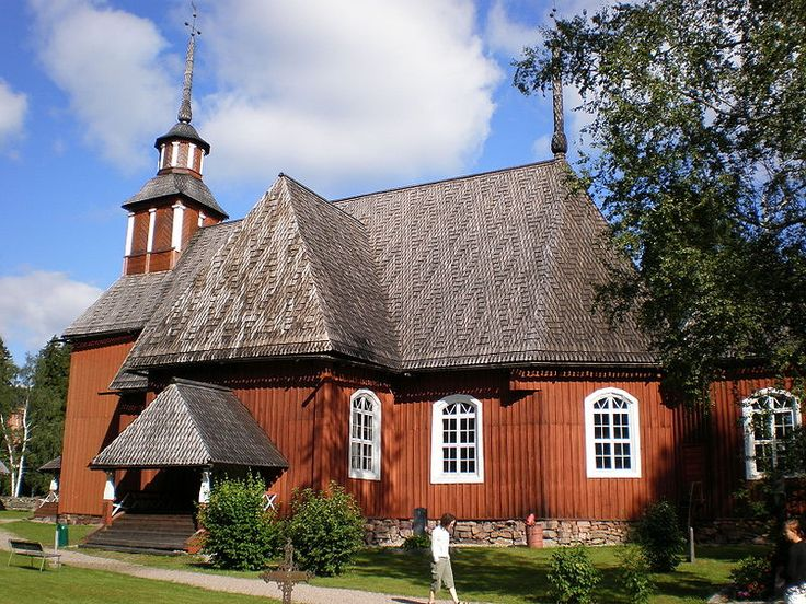 The old church of Keuruu, Finland. I was confirmed there.