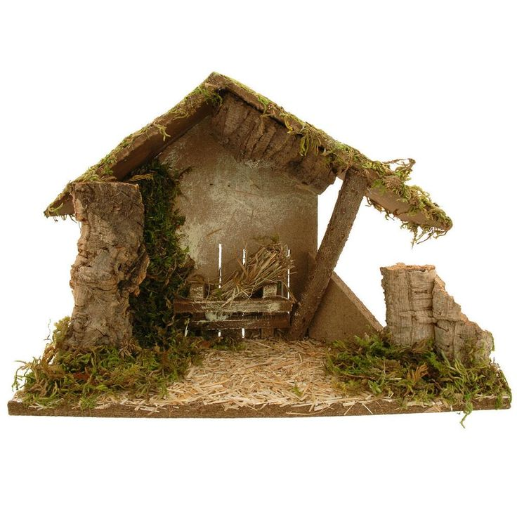 Nativity Stable With Slanted Roof
