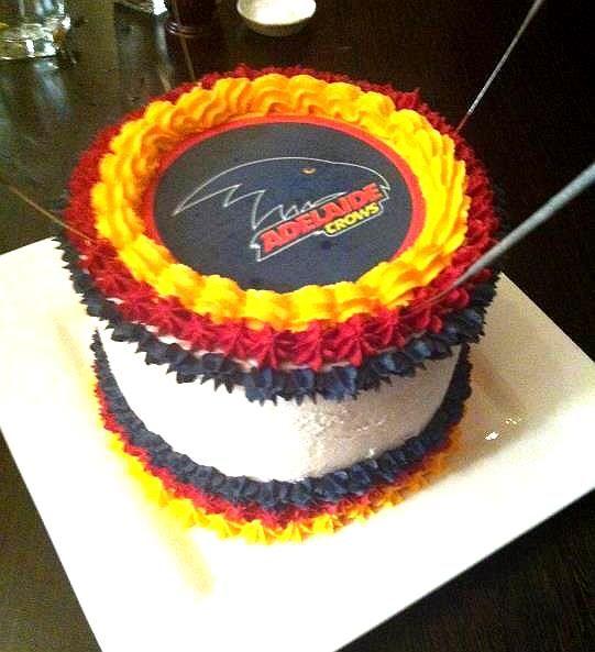 AFL Crows cake
