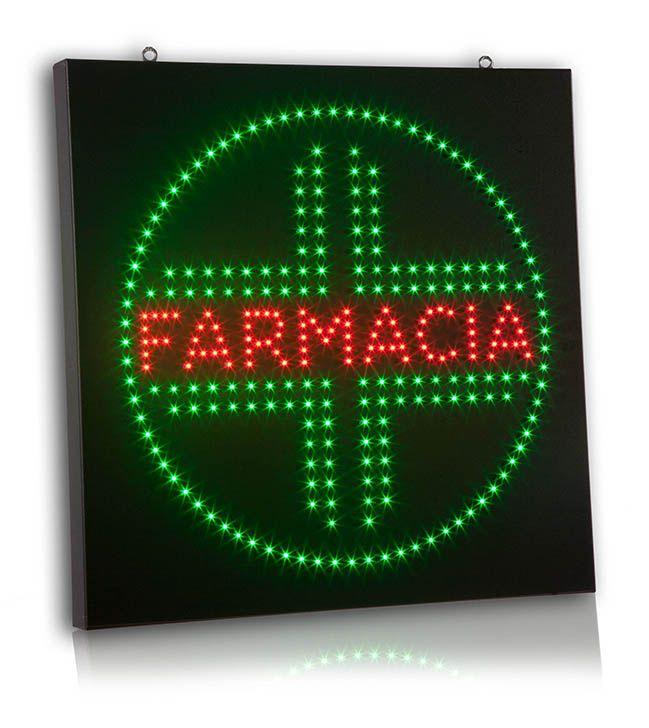 Insegna Monofacciale a LED per Farmacia. Formato cm 64*64