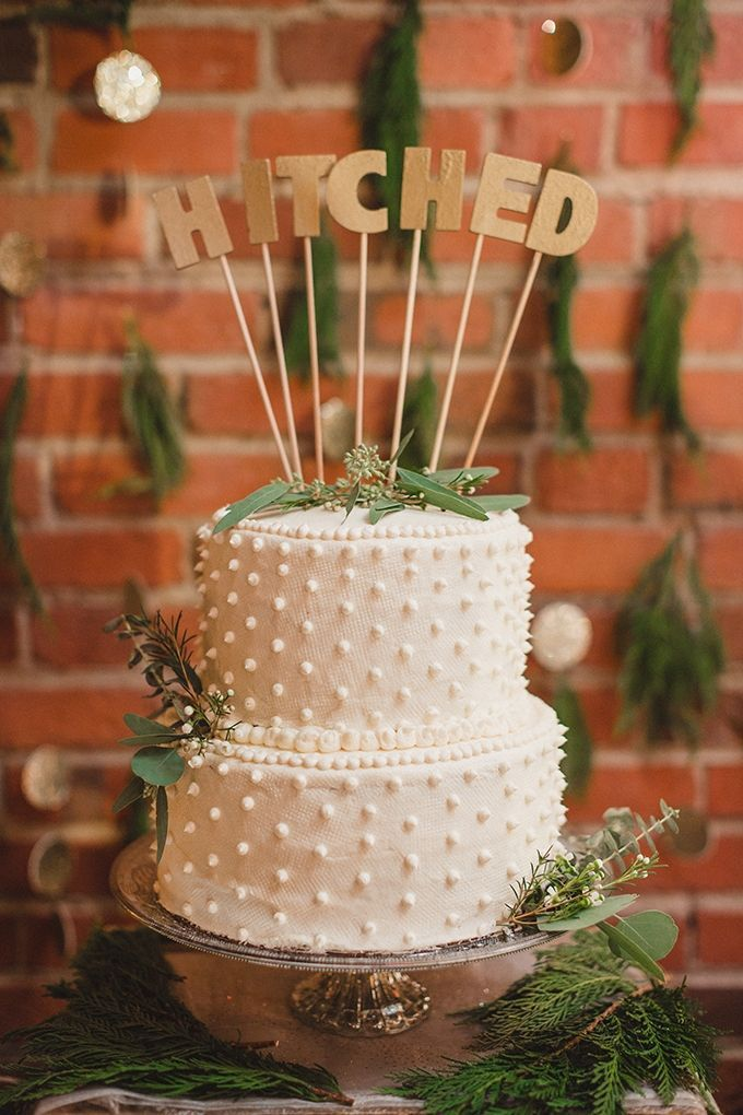 Hitched white cake | JoPhoto | Glamour & Grace