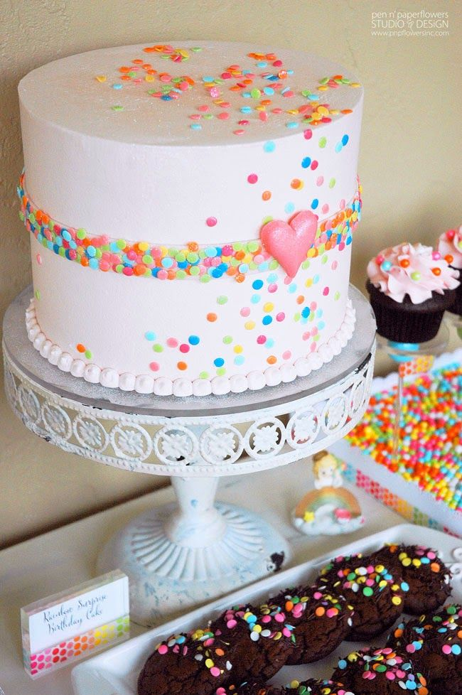 Pen N' Paper Flowers: CELEBRATE   Ella's Rainbow Unicorn Birthday Party