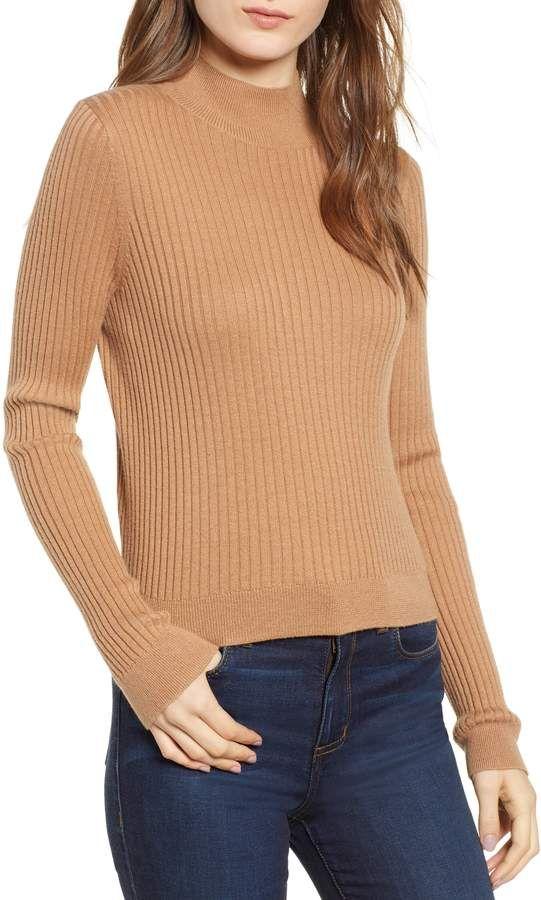 459294b50f BP Rib Knit Mock Neck Sweater #Knit#Rib#BP | Book Covers Fantasy in ...