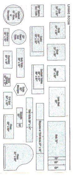 pattern for building quarter scale miniature dollhouse