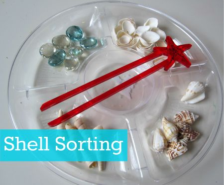 Shell Sorting. Idea can be used with any items.