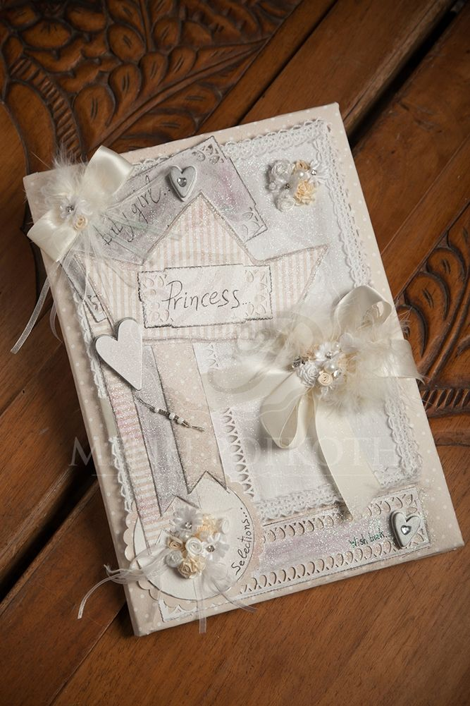 Exquisite handmade guest book for your princess baptism