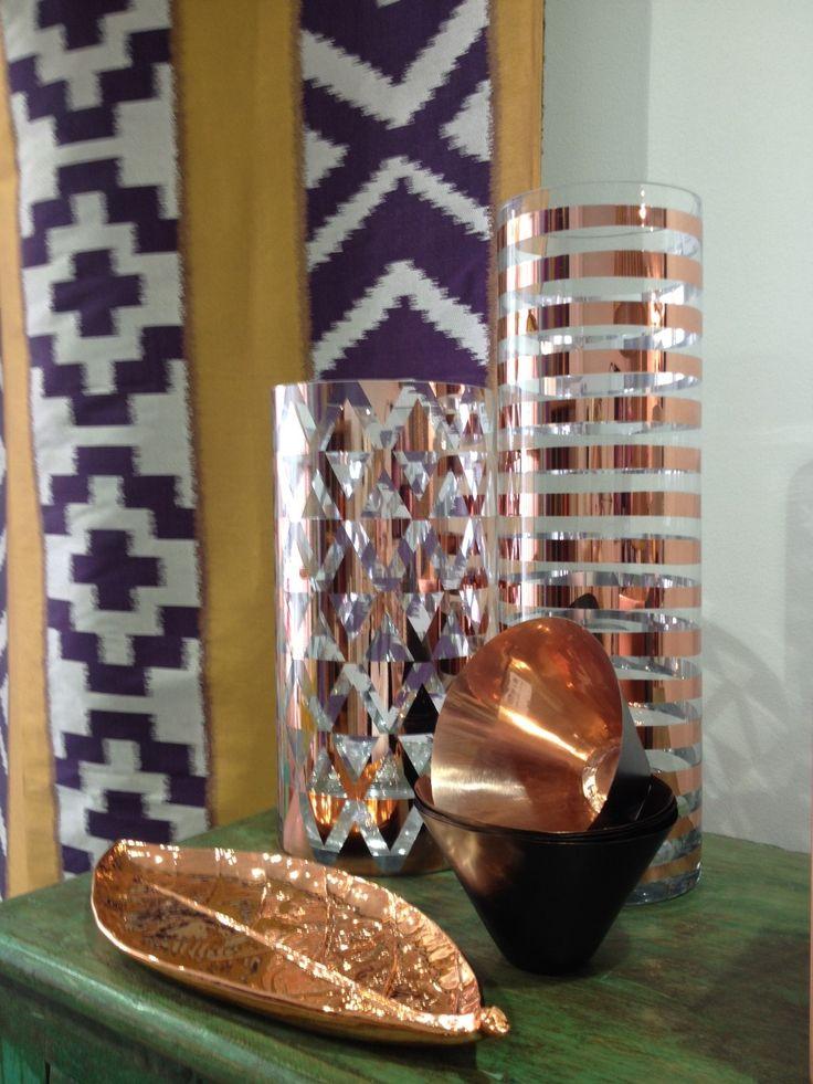Beautiful copper decorative pieces.