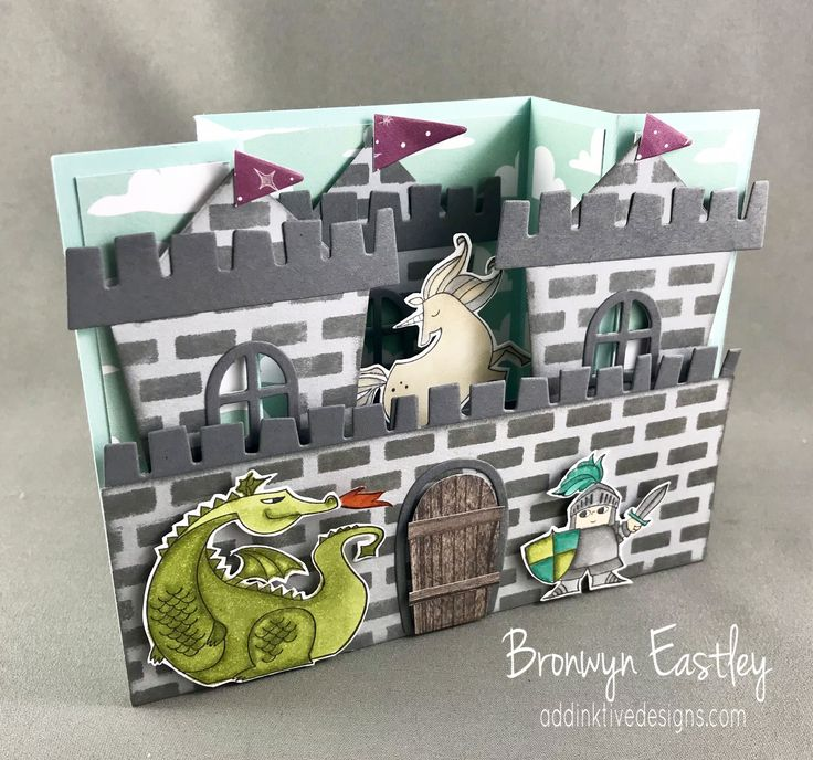 On Stage, Magical Day, Castle Bridge Fold Card