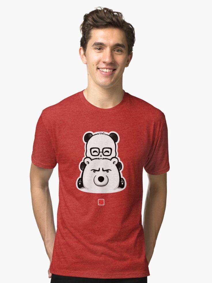 Panda And Polar Bear Slim Fit TShirt Bear t shirt, T