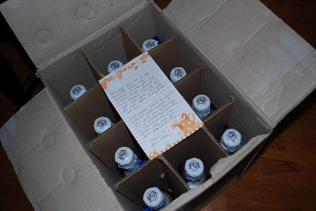 a case of champagne, one to be opened each month for the first year of marriage - great wedding gift idea!