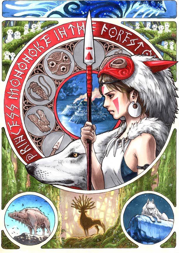 Les superbes affiches des Miyazaki revues par troiscouleurs... http://www.troiscouleurs.fr/?p=7713