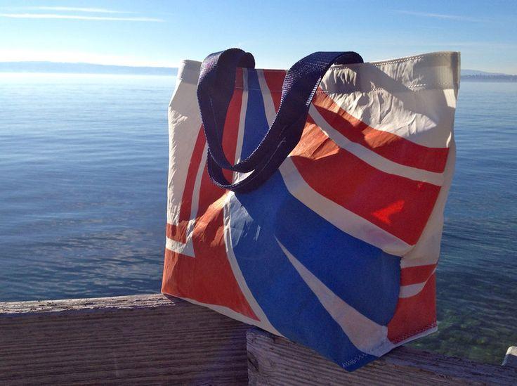 Schlichte Tasche, Shopper, aus Segeltuch von Rough Element auf DaWanda.com