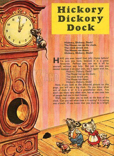 """ Hickery Dickery Dock "" A Mother Goose Nursery Rhyme"