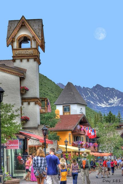 Summer day in Vail Village, Colorado
