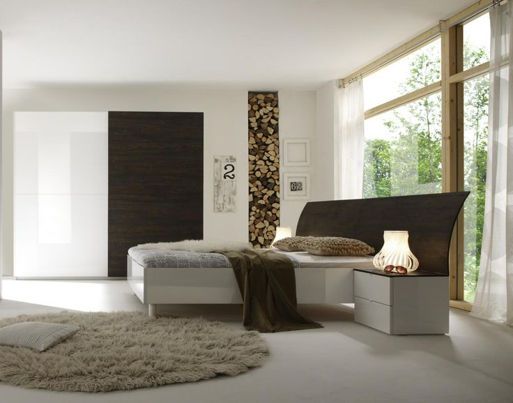 Camera completa legno wengè e  laccato bianco idelshop.com #woodbedroom