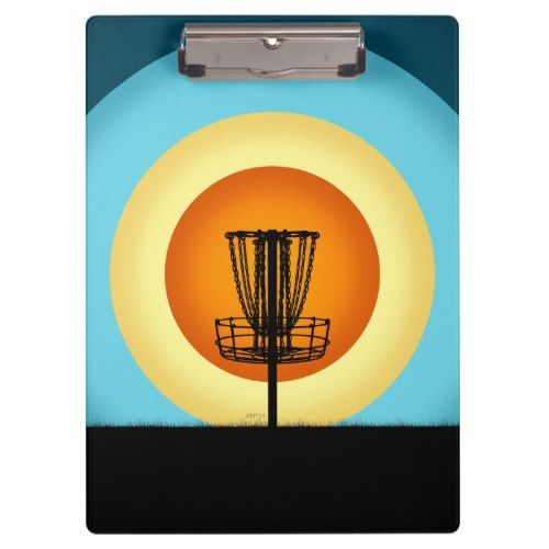 Colorful Disc Golf Basket Clipboard