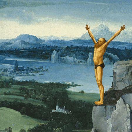 Interesante e innovadora propuesta de un artista que toma pinturas renacentistas…