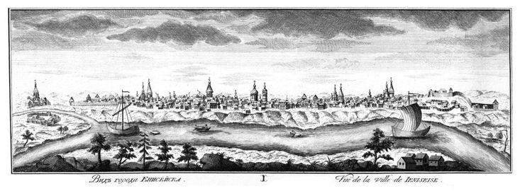 """View of Eniseysk City"" by Fedoseyev. 1770."