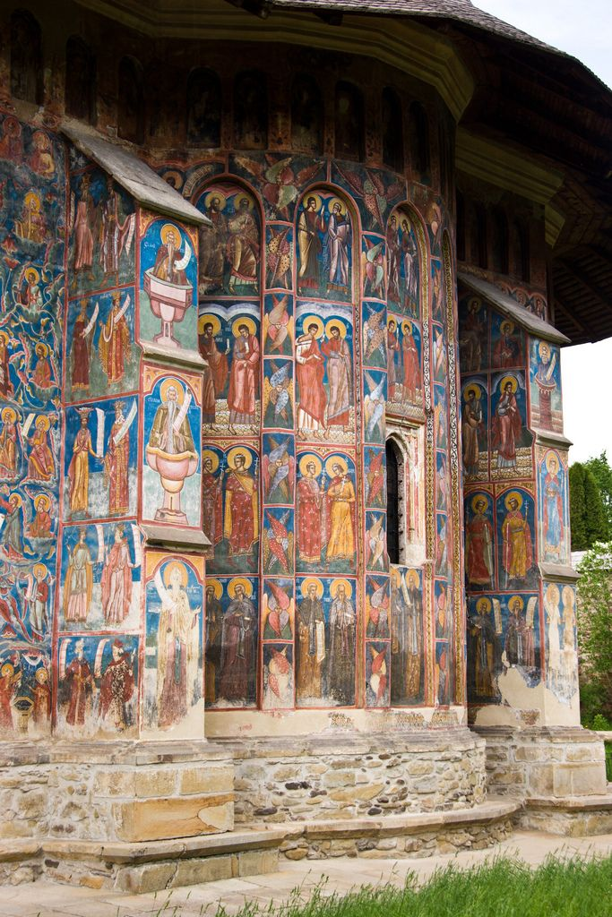 Moldovita monastery paintings, Vatra Moldovitei, Suceava, Romania   - Explore the World with Travel Nerd Nici, one Country at a Time. http://TravelNerdNici.com