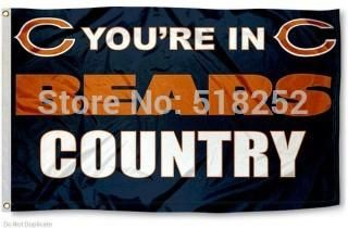Chicago Bears Flag 3x5 FT Banner 100D Polyester NFL flag 173, free shipping  #MLB #Cubs #Dubnation #Raiders