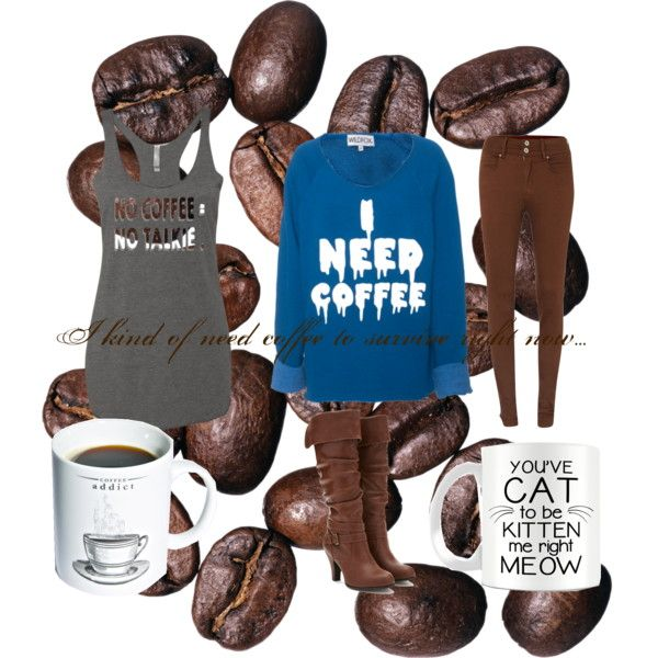 COFFEE COFFEE COFFEE!!! by the-aria-soto on Polyvore featuring Wildfox, Salsa, Forever 21, Gift Republic and lots of coffee!