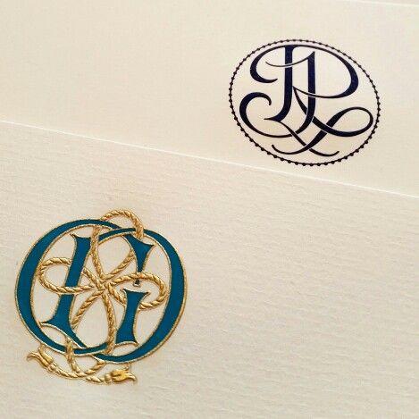 Custom engraved monograms for starionery