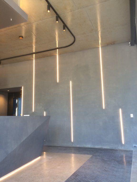 LED track head lights and vertical LED strip lighting