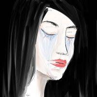 """Retrato digital """"Días raros"""". Tristeza. /  Digital portrait """"Strange days"""" Sadness"""