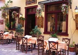 Nafplion, Greece .... sidewalk eatery - great food - pxe