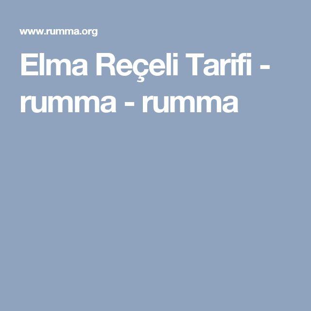 Elma Reçeli Tarifi - rumma - rumma
