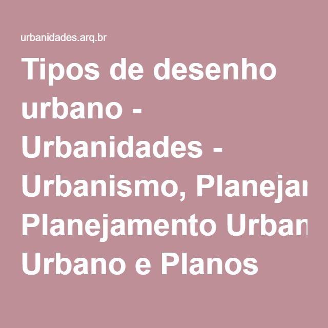 Tipos de desenho urbano - Urbanidades - Urbanismo, Planejamento Urbano e Planos…