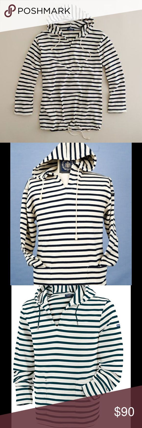 J. Crew X Saint James Nautical Pullover Hoodie EUC, rarely worn. J. Crew and Saint James combined to create this nautical hoodie. Crafted in cotton by Saint James, reknowned for their knit shirts since 1850. Thick & durable 100% cotton. Slightly slouchy. Front pockets & long sleeves. Unisex-Men's small, Women's roomy medium or fitted large. Please submit reasonable offers via the 'Offer' function. NO negotiating in the comments section. NO trading or alternate site transactions. All items…