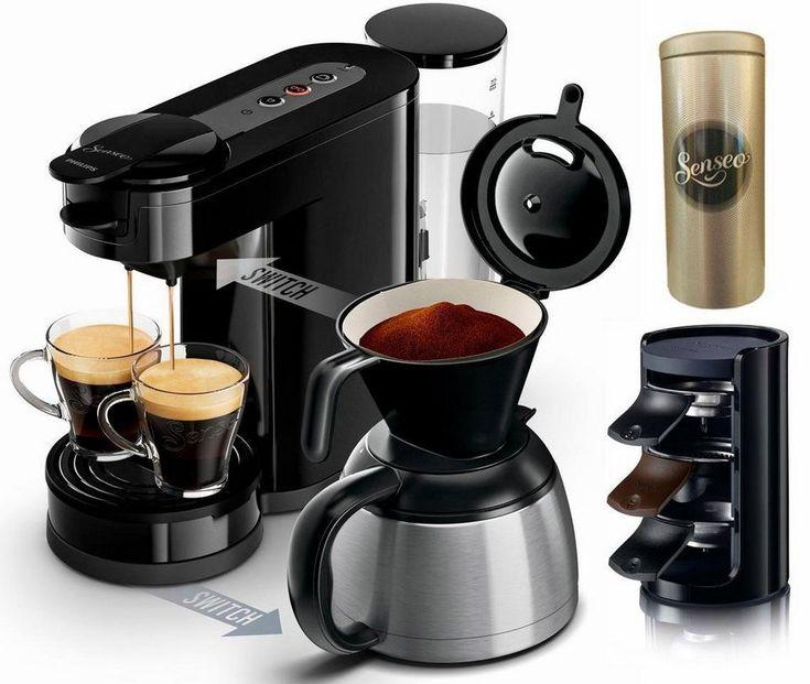 Senseo Kaffeepadmaschine SENSEO® Switch HD7892/60, Papierfilter für 89,90€. Die erste 2-in-1 Kaffeemaschine für Filter und Pads bei OTTO