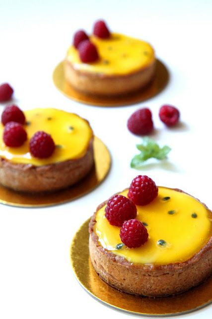 Passion Fruit and Raspberry Tart recipe by Gourmet Baking