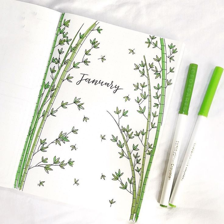 What a delicate January cover page by @icedtearts 🎋✨ I love this bamboo the… – El Li