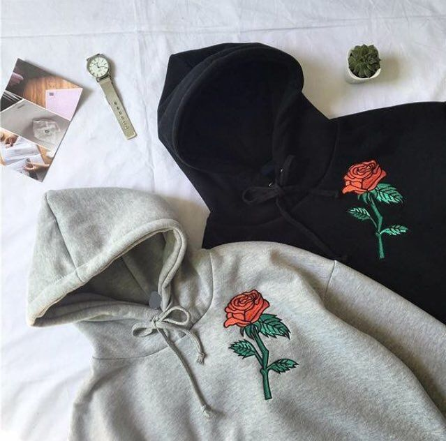 ‪Cute and trendy rose hoodie from https://www.soaestheticshop.com/ Shipping is free & can get 10% off using this code DEZZIE015‬